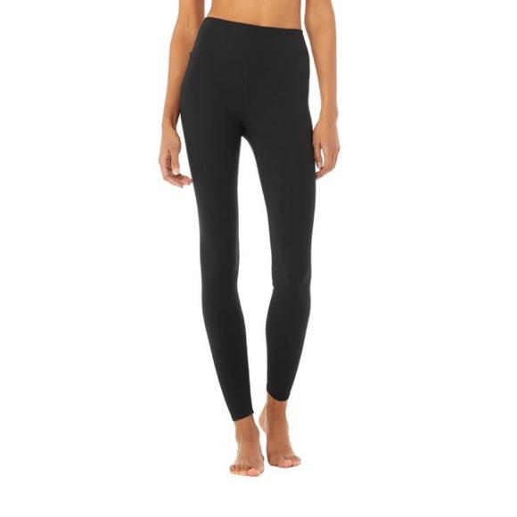 ALO Yoga Pants - Black Alo Zipper Ankle Leggings